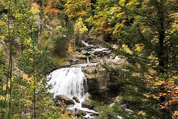 Cascadas de Ordesa en otoño