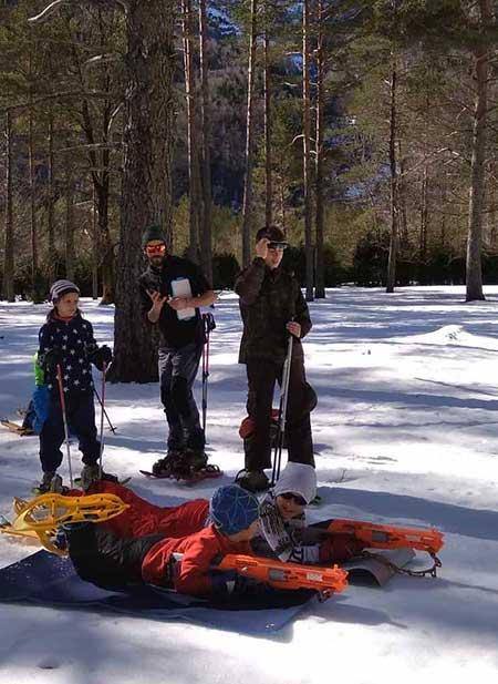 Biatlon invernal infantil